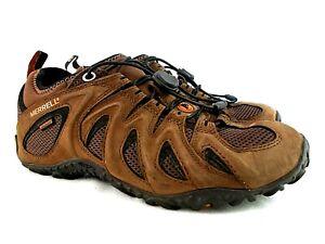 Merrell J33991 Waterproof US Men's 9 M Brown Suede Low Top Vibram Hiking Shoes