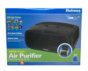 Holmes HEPA Desktop Air Purifier 109 sq ft Room Capacity, Black, HAP242B