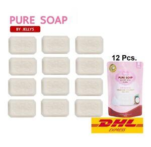 12X PURE SOAP 98% Coconut Oil Soap Glutathione Vitamin E Moisture Balance 100g