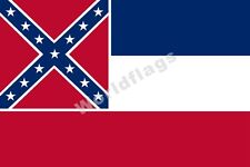 U.S. State Mississippi Flag 3X5FT Historical Bonnie Blue Jackson City Banner