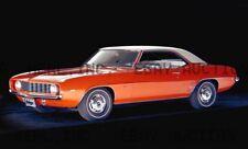 1969 Chevrolet Chevy Camaro LEGENDARY Best Selling  ca 8 x 10 print prent poster
