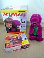 MICROSOFT ACTIMATES BARNEY INTERACTIVE DINOSAUR BOXED WITH TV PACK 1997 WORKING