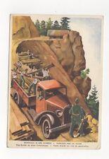 Unsere Soldaten An Der Arbeit 1940 Switzerland Military Postcard 350b
