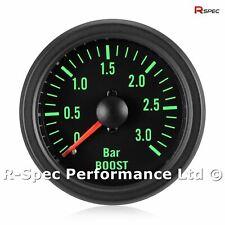 52mm Green Traditional 3 Bar Turbo Diesel Black Face Boost Pressure Gauge Kit