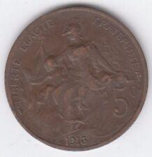 France 1913 5 Centimes, Marianne, Bronze, Liberte Egalite Fraternite
