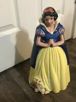 Disney LARGE Vintage Snow White Cookie Jar Canister Treasure Craft Made Mexico