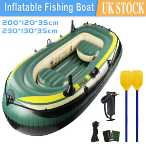 3 Person Inflatable Fishing Rowing Boat Raft Canoe Kayak Dinghy Air Boat Fishing