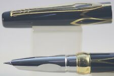 New Luxury Hero No. 3019 Fine Fountain Pen, Black Lacquer with Gold Inlayed Trim