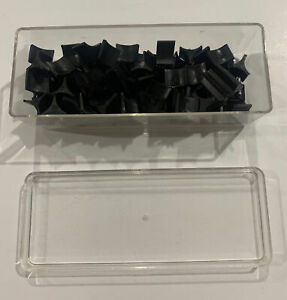 Vintage 1975 Risk Board Game Replacement Piece Part Black With Lid