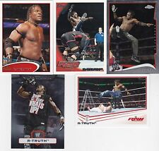 TOPPS WWE FROM CHARLOTTE NORTH CAROLINA 5 R-TRUTH WRESTLING CARDS