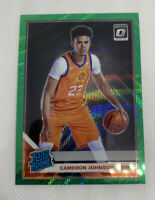 2019-20 Optic CAMERON JOHNSON Fanatics  Prizm Green Wave SP RC Rated Rookie