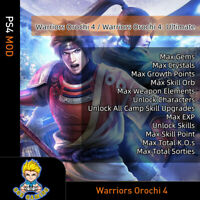 Warriors Orochi 4: Ultimate(PS4 Mod)-Max Gems/Crystals/Growth Points/Skill Orb