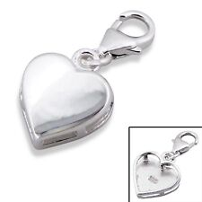 Silvadore HEART Love Opaque 925 Sterling Silver Clip On Charm Bracelet Box 544