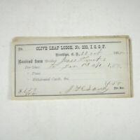 Membership Pledge 1870 Olive Leaf Lodge Set of 9 Brooklyn New York Hunt Ephemera