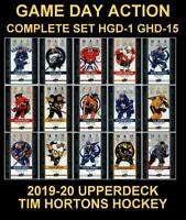 2019-20 UD TIM HORTONS 🍁🍁 GAME DAY ACTION 🍁🍁 Complete Set HGD-1 to HGD-15