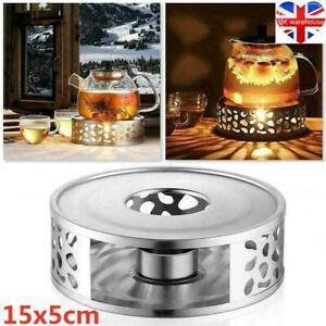 Stainless Steel Tea Teapot Holder Warmer Candle Round Base Heater Coffee Milk