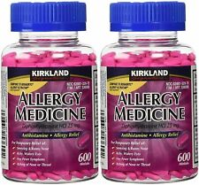 Kirkland Allergy Medicine Diphenhydramine HCI 25 Mg - 2 Bottles (2 x 600 Count)