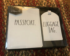 Rae Dunn Passport cover and Luggage Tag NEW