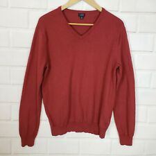 J.Crew Men's Burgundy V-Neck Cashmere Cotton Blend Sweater Size Small