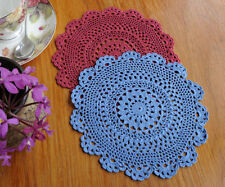 Blue Crocheted Doilies