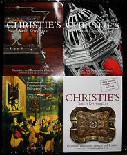 Christies catalogue - x4, furniture and decorative objects,  f108