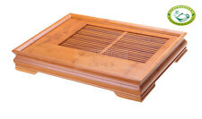 "Large Serving Tray Bamboo Gongfu Tea Table ""lucky and Wishful"" 18.3""*13.6"""