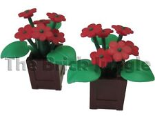 LEGO Red Flowers Box - to suit city, town, castle, train sets etc.