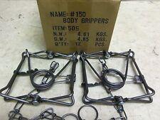 2 Bridger 150 Magnum Body Gripping  Traps 505  Muskrat  Mink Fisher
