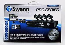 SWANN 8-Channel Security System w/ 500GB DVR, Smartphone Viewing & 4 CCD Cameras
