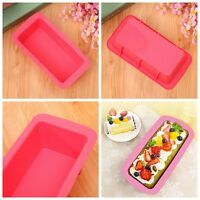 Silicone Bread Loaf Dessert Cake Mold Bakeware Baking Pan Oven Rectangle  Cosp