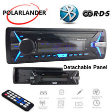 Car Radio Detachable Panel RDS+ Car MP3 Player Bluetooth 1 Din AM USB Stereo