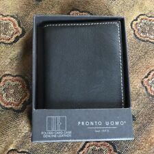 Pronto Uomo Black Bi-fold Wallet  mens