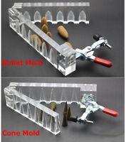 Incense Bullet Ground Cones Acrylic Mould Mold DIY Tool