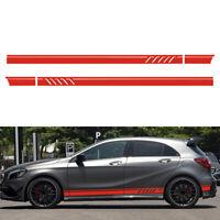 220cm Rot Auto Rennstreifen Seitenaufkleber Streifen Zierstreifen Aufkleber Neu