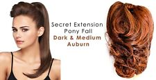 "Secret Extensions Daisy Fuentes 22"" Pony Fall Synthetic Dark & Medium Auburn"