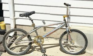 RARE CHROME RHINO TURN N BURN NO REGRETS BMX BIKE For parts or Restoration