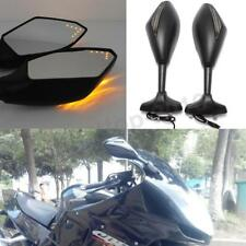 Pairs Black Motorcycle LED Turn Signal Side Mirror For Honda CBR1100XX Blackbird