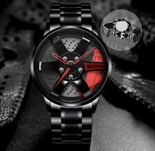 Custom Design Male Wrist Watch. Sport Car Rim. Waterproof. Deal. Quick Shipping.
