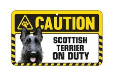 Dog Sign Caution Beware - Scottish Terrier