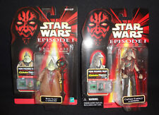 Lot of 2 Star Wars EPISODE I Captain Tarpals & Boss Nass action figures Commtech