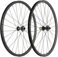 29ER MTB Carbon Wheelset 30mm Tubeless Mountain Bike Wheelset XC Thru Axle 700C