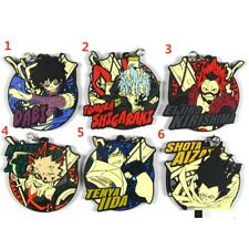 My Hero Academia Rubber Keychain Key Ring Race Straps