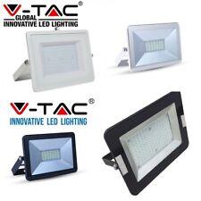 FARO LED V-Tac Faretto Sottile 10W 20 30 50W 100W Esterno Ultra Slim SMD