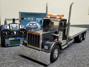 Custom Built Tamiya 1/14 King Hauler Day Cab Flatbed Truck +ESC +2.4GHz +Battery
