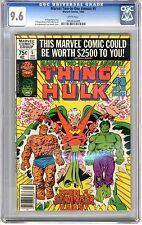 Marvel Two-In-One Annual  #5 CGC  9.6 NM+ wht pgs Hulk Team Up, Stranger & Pluto