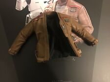 Hot Toys MMS346 Star Wars Force despierta Finn Poe damerons Marrón Cuero Chaqueta