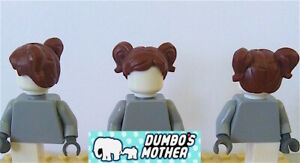 Lego Minifigure Hair Short Parted with Two Pigtails Female Girl Child NEW