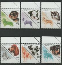 Thematic Stamps Animals - GUINEA REP 1997 DOGS 6v TRIANGULARS mint