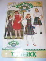 CHILDS GIRLS UNCUT BUTTERICK Sewing Pattern 3356 CABBAGE PATCH KIDS DRESS 7-10