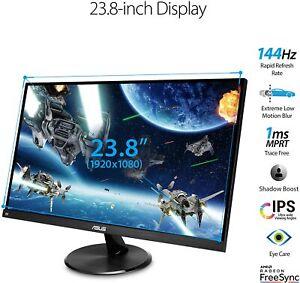 "ASUS VP249QGR 23.8"" 144Hz FHD IPS 1ms FreeSync LED Gaming Monitor DP/HDMI/VGA"